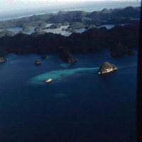 Lagoon, Angaur [Ngeaur]. Koror. Color contrast. [Palau]…