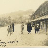 Boys in snowy Matsushima, Miyagi Japan