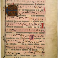 Leaf from an Antiphonal Choirbook for a Benedictine…
