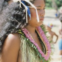 Girl at Outer Islands High School (OIHS) Graduation - 2