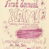 Come to the first annual Kaimu