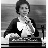 Pat Saiki at the 1968 Hawai'i Constitutional Convention