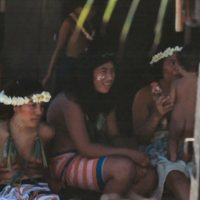 Young Women Sitting in Shade