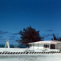 Bathouse [bathhouse], Circus Beach, Saipan. Mar. 1951