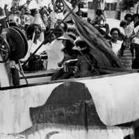 Parade and crowd, Koror, 1977. (N-5A/6).