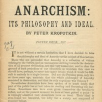 Anarchism: its philosophy and ideal.