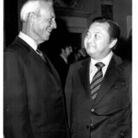 Governor John Burns and Senator Daniel Inouye