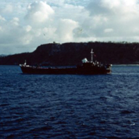 LST Apra Harbor. Guam. Dec. 1949
