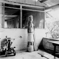Example of Palauan carving: a statue (sculpture) of a…