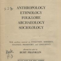 Anthropology, ethnology, folklore, archaeology,…