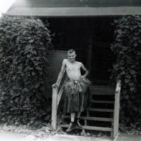 E.E. Crawford ComMar - Guam, M.I. Yapese grass skirt.…