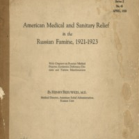 American medical and sanitary relief in the Russian…