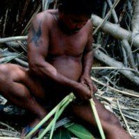 Man Weaving Palm Leaves - 08