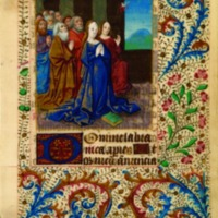 Annunciation, Illuminated Leaf from a Book of Hours