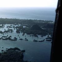 Lagoon enroute Angaur, Koror, Palau. 14 Feb. 1950