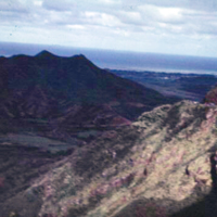 View from Pali. Dec. 1950