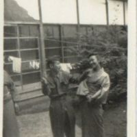 Kaizawa 2-045: Freddie Yoshida in uniform posing with a…