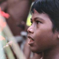 Boy at Satawal Elementary School graduation ceremonies
