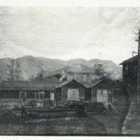 Scene of latrines and barracks, Aizuwakamatsu Miyagi…