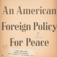 American foreign policy for peace [copy 1]