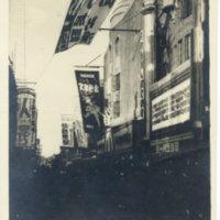 Movie theatres on Cinema Street of Asakusa, Pre-WWII,…