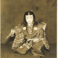Kaizawa 1-077: Kabuki actor - a youg boy playing as…