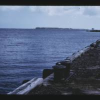 From wooden pier on lagoon side of Parry (Elmer) Island…