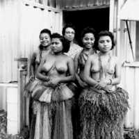 Yapese women in traditional dress. (N-Yap 34).