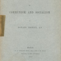Essay on communism and socialism