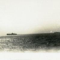 US ship in distance, Okinawa