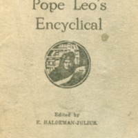 Pope Leo's encyclical, encyclical of May 15, 1891, a…
