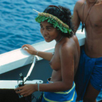 Young man and woman aboard Micro Spirit - 2