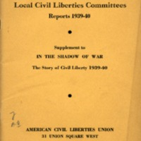Local civil liberties committees reports, 1939-40:…