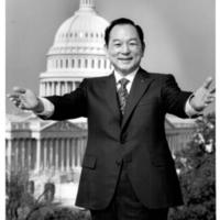 Senator Spark Matsunaga near Capitol