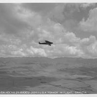B-1307 USA Fokker in flight