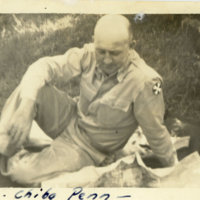 Emery Middleton sitting on the ground during a picnic,…
