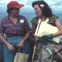 Jackie Law & Irene Beers. Truk. Aug. 1950