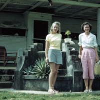 Margo, Carole outside Dr. Jone's qtrs. Koror, Palau. 15…