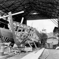 Ship building in Palau, 1966: 5. (N-PA002-118).