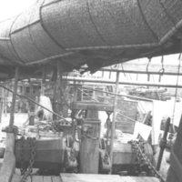 114. Salt junk rolled mat sail, Pearl River