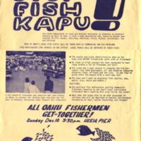 Stop the fish kapu!