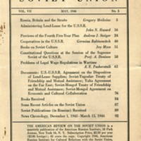 American review of the Soviet Union (9 v., 1938-1948)