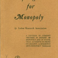 Apologists for Monopoly