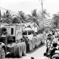 Float, Koror parade, 1977. (N-11A/12).
