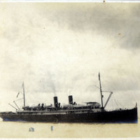 Ocean liner with two smokestacks