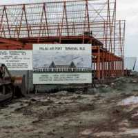 Palau Airport terminal construction. (S-4070a.01).