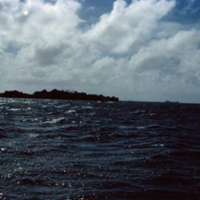 Lagoon. Yap, from the plane -[to] Palau. 19 Dec. 1949