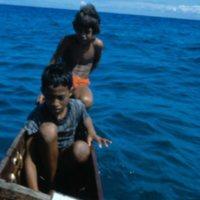 Two Children in Canoe