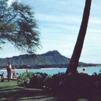 Diamond Head from Halekulani. 8 Apr. 1954
