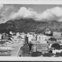 View of valley from downtown Honolulu